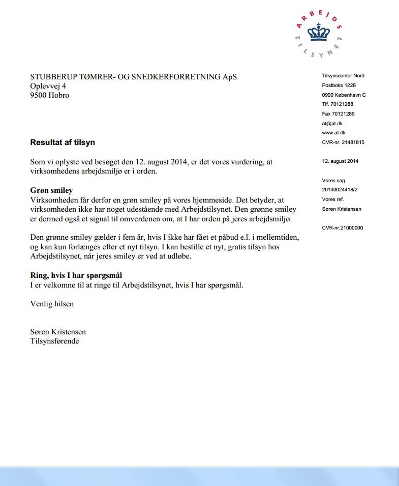 Tilsynsrapport 2014